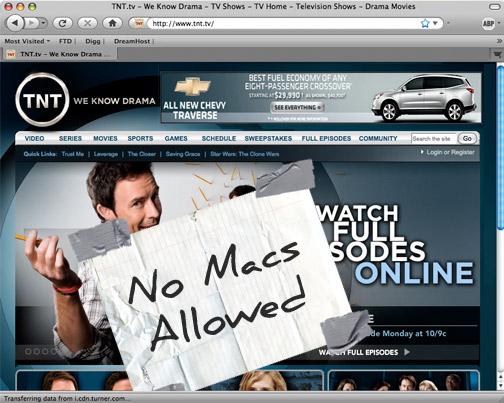 TNT - No Macs Allowed